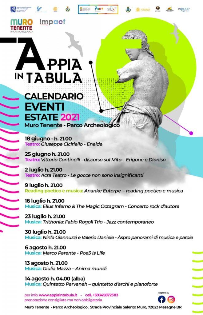 Appia in tabula calendario